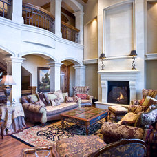 Traditional Living Room by Jarrod Smart Construction