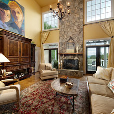Traditional Living Room by Liza Jane Interiors