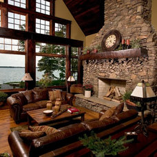 Rustic Living Room by Lands End Development - Designers & Builders