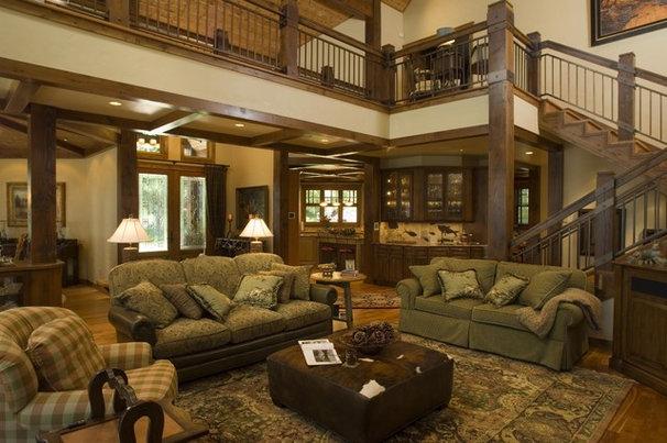 Rustic Living Room by Marie Meko, Allied ASID