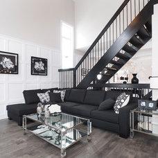 Transitional Living Room by Tiffany MacKinnon