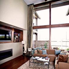 Contemporary Living Room by Pahlisch Homes, Inc.