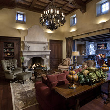 Mediterranean Living Room by R.J. Gurley Custom Homes