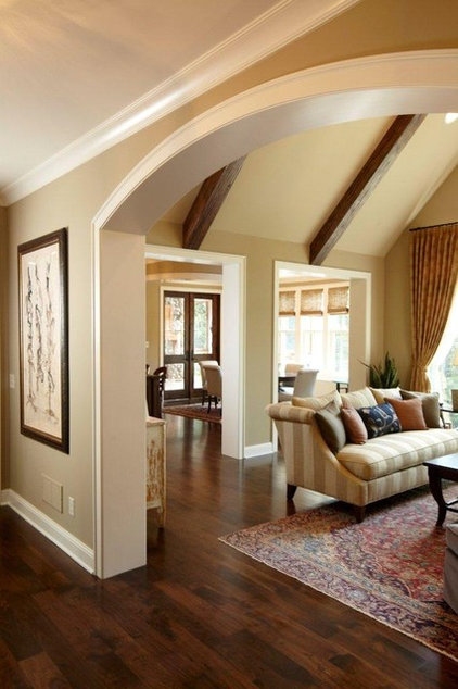 Traditional Living Room by Stonewood, LLC