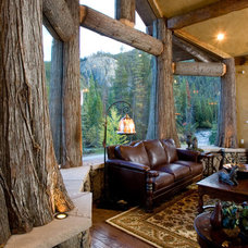 Rustic Living Room by DesignWorks Development