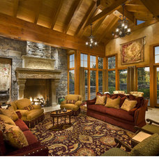Traditional Living Room by Ward-Young Architecture & Planning - Truckee, CA
