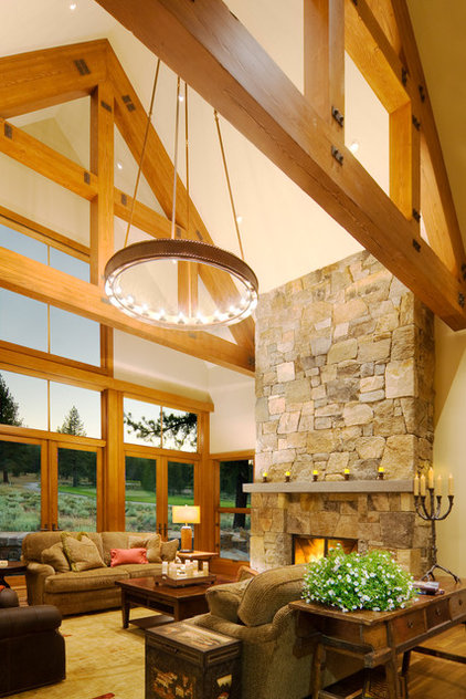 Rustic Living Room by Ward-Young Architecture & Planning - Truckee, CA