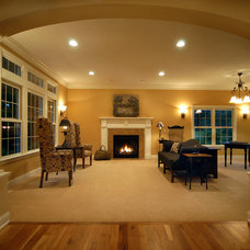 Traditional Living Room by Artisan Building and Design, LLC