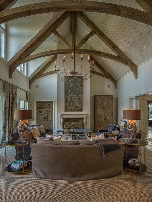 Images de d coration et id es d co de maisons plafond blanc poutre apparente - Idee deco plafond poutre ...