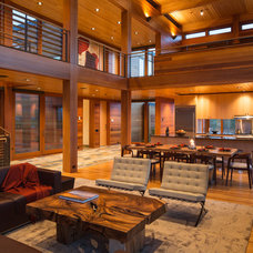 Contemporary Living Room by Teton Heritage Builders