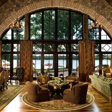 Mediterranean Living Room by Nor-Son, Inc.