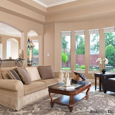 Transitional Living Room by Redesign Etc. Home Staging