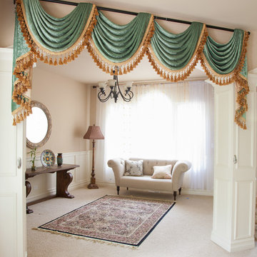 Green Chenille Swag Valance Curtains
