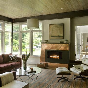 Green Gambrel Living Room