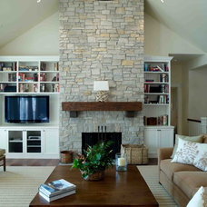 Traditional Living Room by Thelen Total Construction