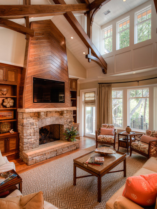 Wood Above Fireplace Design Ideas Remodel Pictures Houzz