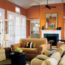 Farmhouse Living Room by Ike Kligerman Barkley
