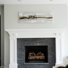 Transitional Living Room by Sarah Gallop Design Inc.
