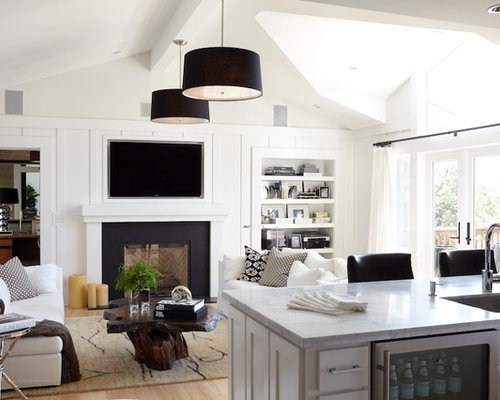 SaveEmail - Best White Fireplace Mantel Design Ideas & Remodel Pictures Houzz