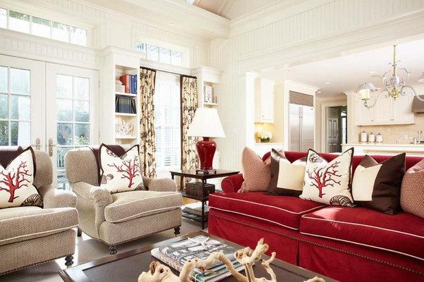 Coastal Living Room by Tiffany Eastman Interiors, LLC