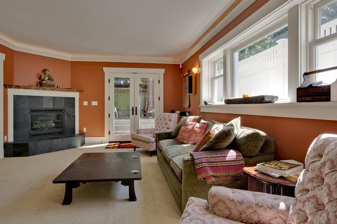 Craftsman Living Room by Ventana Construction LLC