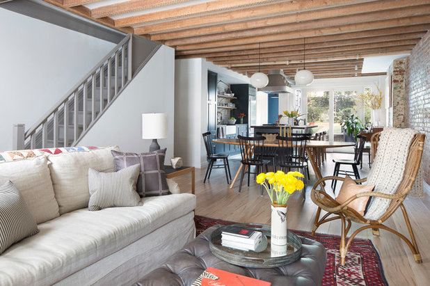 Eclectic Living Room by A.Jennison Interiors