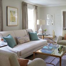 Traditional Living Room by Kara Cox Interiors