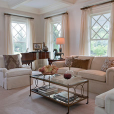 Traditional Living Room by Susan Carlson Interiors