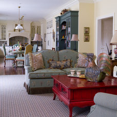 Traditional Living Room by Robin Baron Design