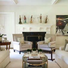 Transitional Living Room by Roughan Interior Design