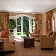 Traditional Living Room by Diane Gerardi Design