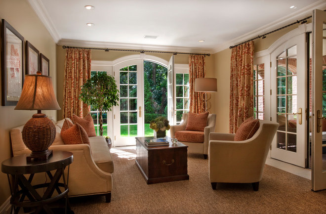 Traditional Living Room by Diane Gerardi Design