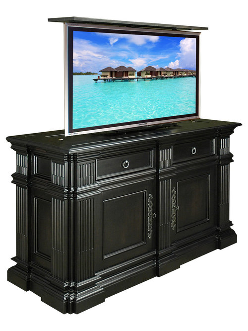 tv lift cabinets for flat screens flat screen tv lift cabinets home design ideas pictures 27359