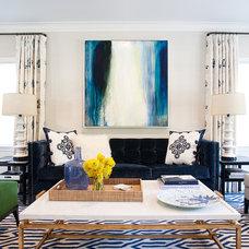 Contemporary Living Room by Marks & Frantz Interior Design