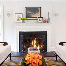 Traditional Living Room by Marks & Frantz Interior Design