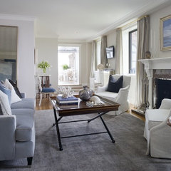 traditional living room by Tiffany Eastman Interiors, LLC