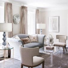 Transitional Living Room by Tiffany Eastman Interiors, LLC