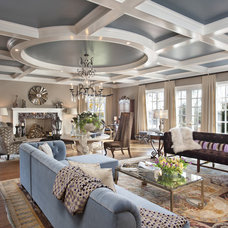 Contemporary Living Room by Clark Gaynor Interiors