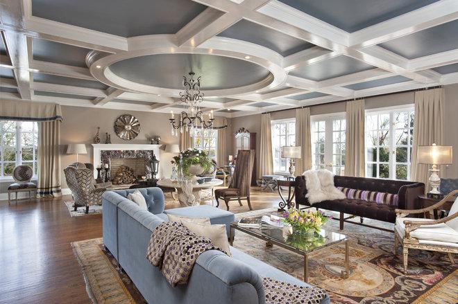 Contemporary Living Room by Clark Gaynor Interiors