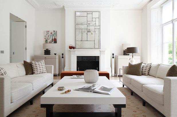 Transitional Living Room by Juliette Byrne