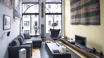 greenwich village loft living room