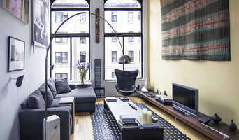greenwich village loft living room