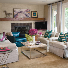 Transitional Living Room by Andrea Schumacher Interiors