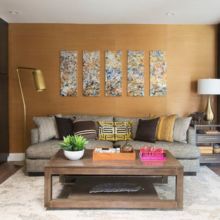 75 Beautiful Living Room With Yellow Walls Pictures & Ideas ...