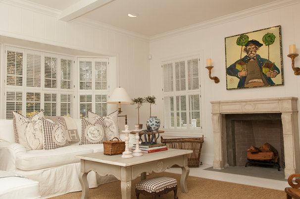 Traditional Living Room by Whitney Lyons