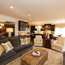 Contemporary Living Room by Design Works Studio