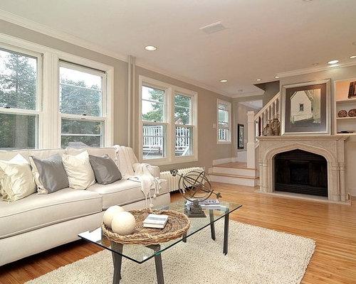 gray white living room | houzz