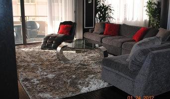 Grey Shaggy in living room