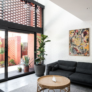 This is an example of an industrial living room in Perth.