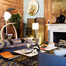 Eclectic Living Room by Thom Filicia Inc.